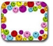 CARSON DELLOSA CD-9475 NAME TAGS multicoloured SMILEY FACES-40/PK SELF-ADHESIVE