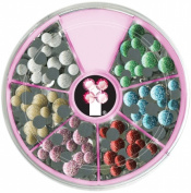 Imaginisce 472289 i-rock Hot Rocks Adhesive Gem Compact 800-Pkg-Glitter