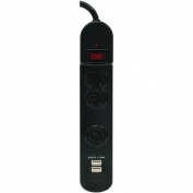 Ge 14002 3-Outlet Surge Strip With Usb