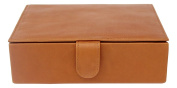 Piel Leather 2352 Large Leather Gift Box - Saddle