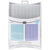 Sizzix 469477 Sizzix Textured Impressions Embossing Folders 2-Pkg-Flourishdots & Ribbon Set