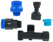 Toro Irrigation Systems Blue Stripe Drip Water Source Installation Kit Blacks 53756