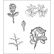 Heartfelt Creations 120757 Heartfelt Creations Cling Rubber Stamp Set 13cm . x 17cm . -Classic Bella Rose