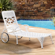 Home Styles Biscayne Chaise Lounge Chair, White
