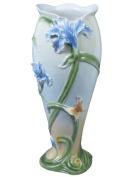 Unicorn Studios AP20290AA Iris Flower and Butterfly Porcelain Vase
