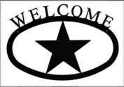 Village Wrought Iron WEL-3-L Deer Welcome Sign - Large