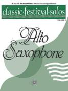 Alfred 00-EL03882 Classic Festival Solos- E-Flat Alto Saxophone- Volume 2 Piano Acc. - Music Book