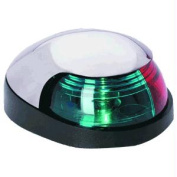 Attwood Quasar & #153; 2-Mile Deck Mount, Bi-Colour Red/Green Combo Sidelight - 12V - White Housing