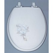 Centoco HPS20SR-001 Summer Rose Embroidered Soft Vinyl Toilet Seat