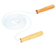 DICK MARTIN SPORTS MASCJR8 JUMP ROPE COTTON 8 WOOD HANDLE