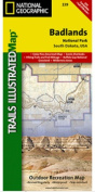 National Geographic TI00000239 Map Of Badlands National Park - South Dakota