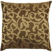 Surya P-0148 Machine Made 100% Poly Jacquard Woven Fabric Black 46cm x 46cm Decorative Pillow
