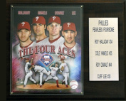 C & I Collectables 1215PHILSBIG4 MLB Halladay-Lee-Oswalt-Hamels Philadelphia Phillies Player Plaque