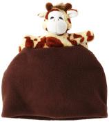 BearHands FHS-GIR-BRN XS Hat Fleece Giraffe on Brown - X-Small