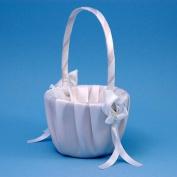 Beverly Clark A01075FB/WHT Calla Lily Flower Girl Basket - White