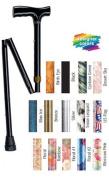 Complete Medical 1562A Folding Cane Pistol Grip Adj. 32-37 - Bronze