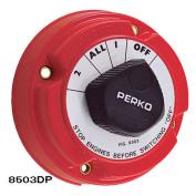 Perko 8503DP Medium Duty Battery Selector Switch with Alternator Field Disconnect w/o Key Lock - 8503DP