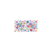 Unique Industries 151303 Printed Gift Wrap 80cm . Wide 1.5m Roll-Birthday Stars