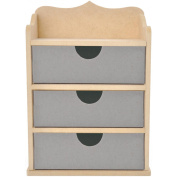 Kaisercraft 461648 Beyond The Page MDF Chest Of Drawers-3 Drawers