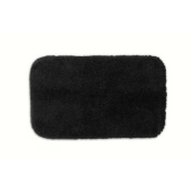 Garland Rug PRE-2440-17 Finest Luxury 24 in. x 40 in. Ultra Plush Washable Nylon Rug Black