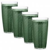 Kraftware 31324 Fishnet 710ml Doublewall Drinkware Set/4 Hunter Green