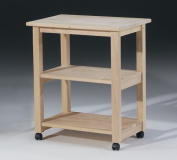 International Concepts 185 Microwave Cart, Unfinished