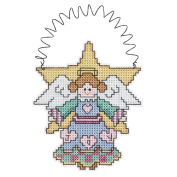 Janlynn 329484 Holiday Wizzers Angel Counted Cross Stitch Kit-8.9cm . x 10cm . 14 Count