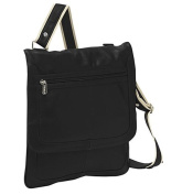 Piel Leather 2817-BLK Small Vertical Messenger - Black