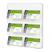 Deflect-O Corporation DEF70601 Business Card Holder- 6 Slots- 8-.130cm .x1-.130cm .x9-.190cm .- Clear