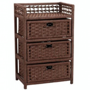 Whitney Design ML-7000 Paper Rope 3 Drawer Chest-Stained