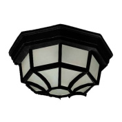 Maxim Lighting 87920BK Flush Mount EE 1-Light Outdoor Ceiling Mount - Black