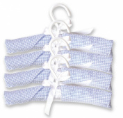 Trend Lab 100001 Hangers- 4-Pack Blue Gingham Seersucker