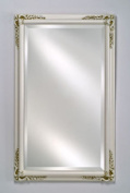 Afina Corporation EC13-2026-WT 20 in.x 26 in.Estate Framed Wall Mirror - Antique White
