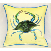 Betsy Drake HJ004 Blue Crab- Female Art Only Pillow 18x18