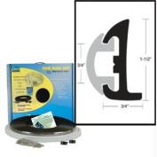 TACO Semi-Rigid Rub Rail Kit - Black w/Black Insert - 50'