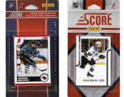 C & I Collectables SHARKS2TS NHL San Jose Sharks Licenced Score 2 Team Sets
