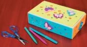 Darice 2406-91 Craft School Box 22cm . x 13cm . x 5.7cm .-White