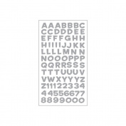 Sticko E5210111 Sticko Alphabet Stickers-Funhouse Silver Metallic