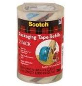Scotch Sure Start Shipping Tape, 4.8cm . x 2290cm ., 2 Refill Rolls for DP-1000 Dispenser/Pack
