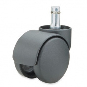 Master Caster Company MAS94326 Futura Caster- B Stem- Soft Wheel- .44in.Dx.88in.H- Black