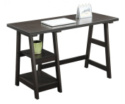 Designs 2 Go Trestle Desk by Convenience Concepts, Multiple Colours