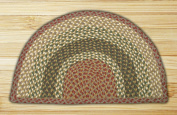 Capitol Importing 32-SM024 Olive-Burgundy-Gray - 18 in. x 29 in. Small Rug Slice