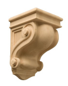 Hardware Distributors NPCCS0203MUF1 9.5 in. Scroll Carved Corbels - Maple