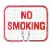 Olympia Sports SF083P Snap-On Cone Sign - NO SMOKING
