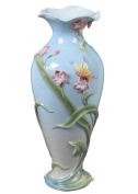 Unicorn Studios AP20291AA Freesia Flowers and Butterfly Porcelain Vase