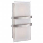 Access Lighting 62218-BS-OPL Metro 14 1 Light Opal Glass Wall Fixture - Brushed Steel