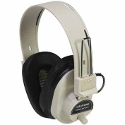 Califone International 2924Av-Pv Deluxe Monaural Headphones - Fixed Cord With Volume Control