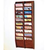 Wooden Mallet MR48-20MH Cascade 20 Pocket Magazine Rack in Mahogany