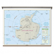 Universal Map 762544465 Antarctica Essential Classroom Wall Map On Roller With Backboard