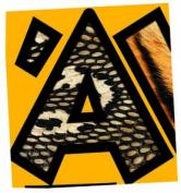 Animal Prints 10cm Venture Uppercase Ready Letters